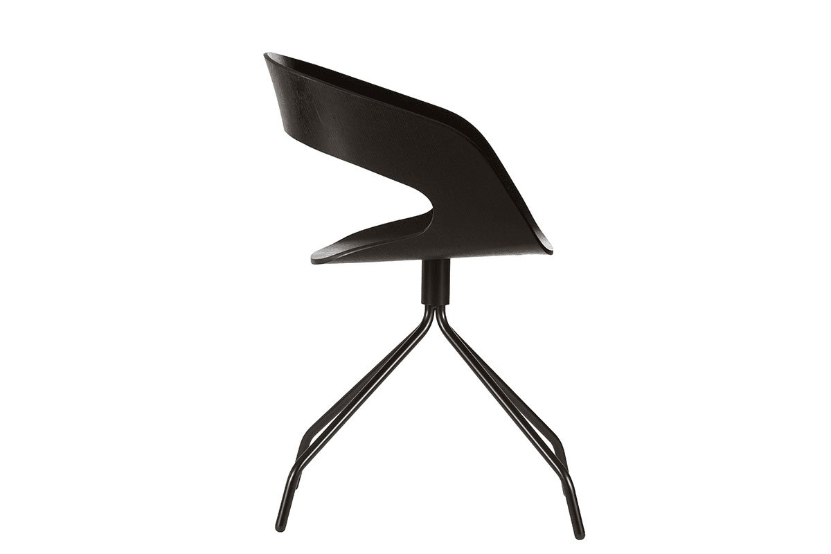 Scandinavian design chair from the oak, stained black