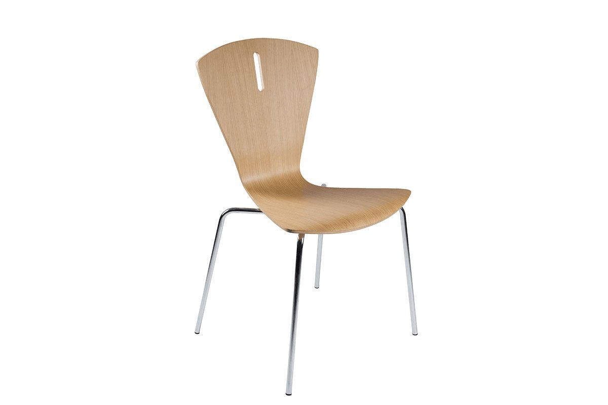 Durable wooden chair from the oak, lacquered