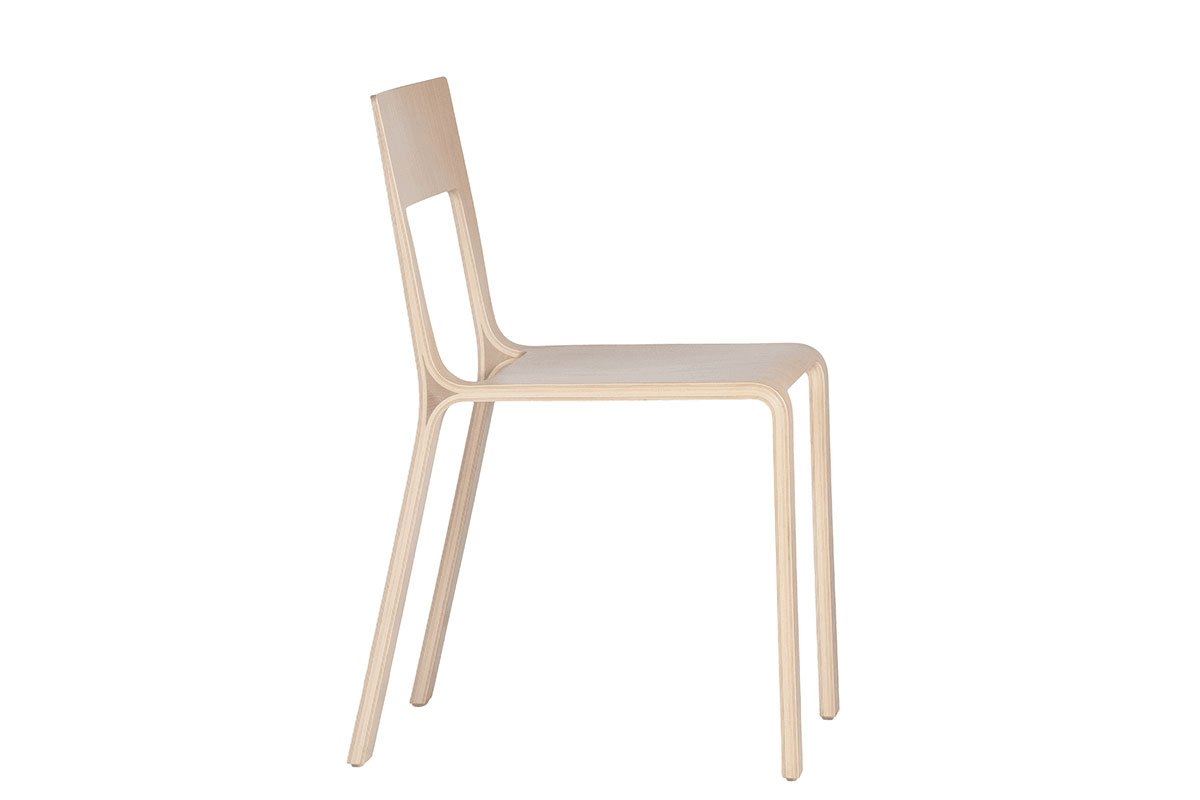 Scandinavian design chair from the oak, bleached