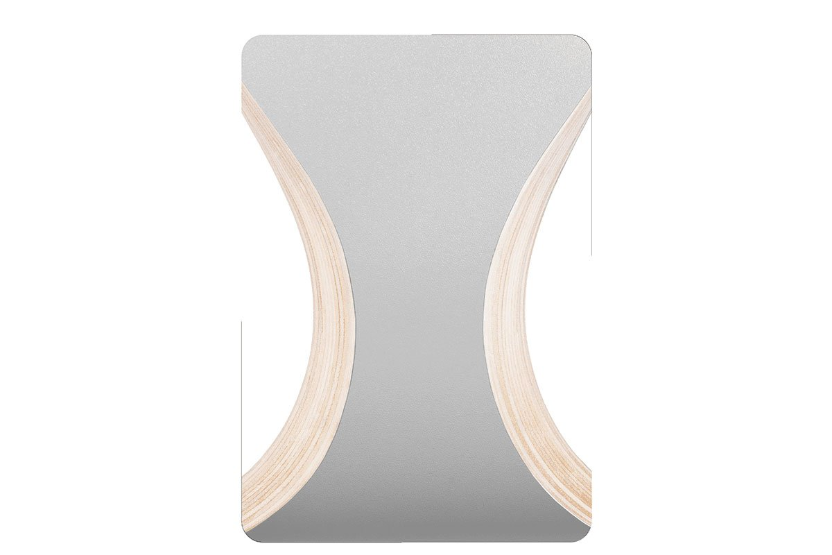 Scandinavian design chair, laminate, grey