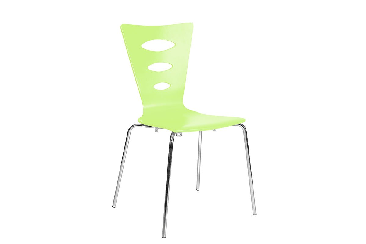 Scandinavian design chair, painted, green