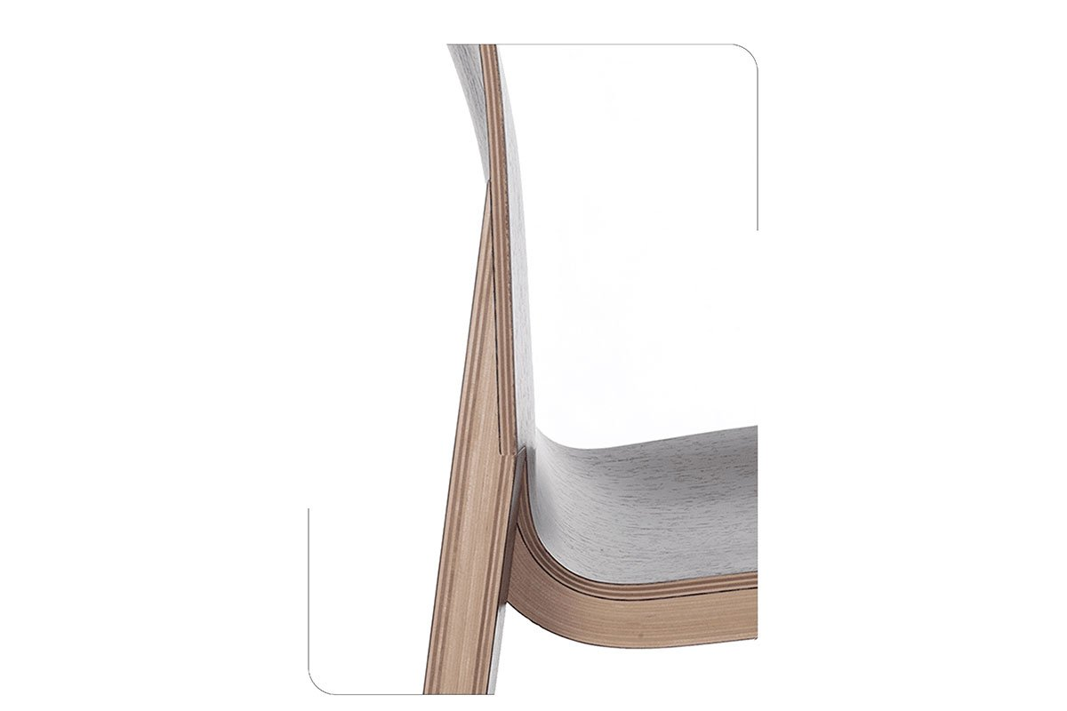 Durable wooden chair from the oak, wenge, lacquered