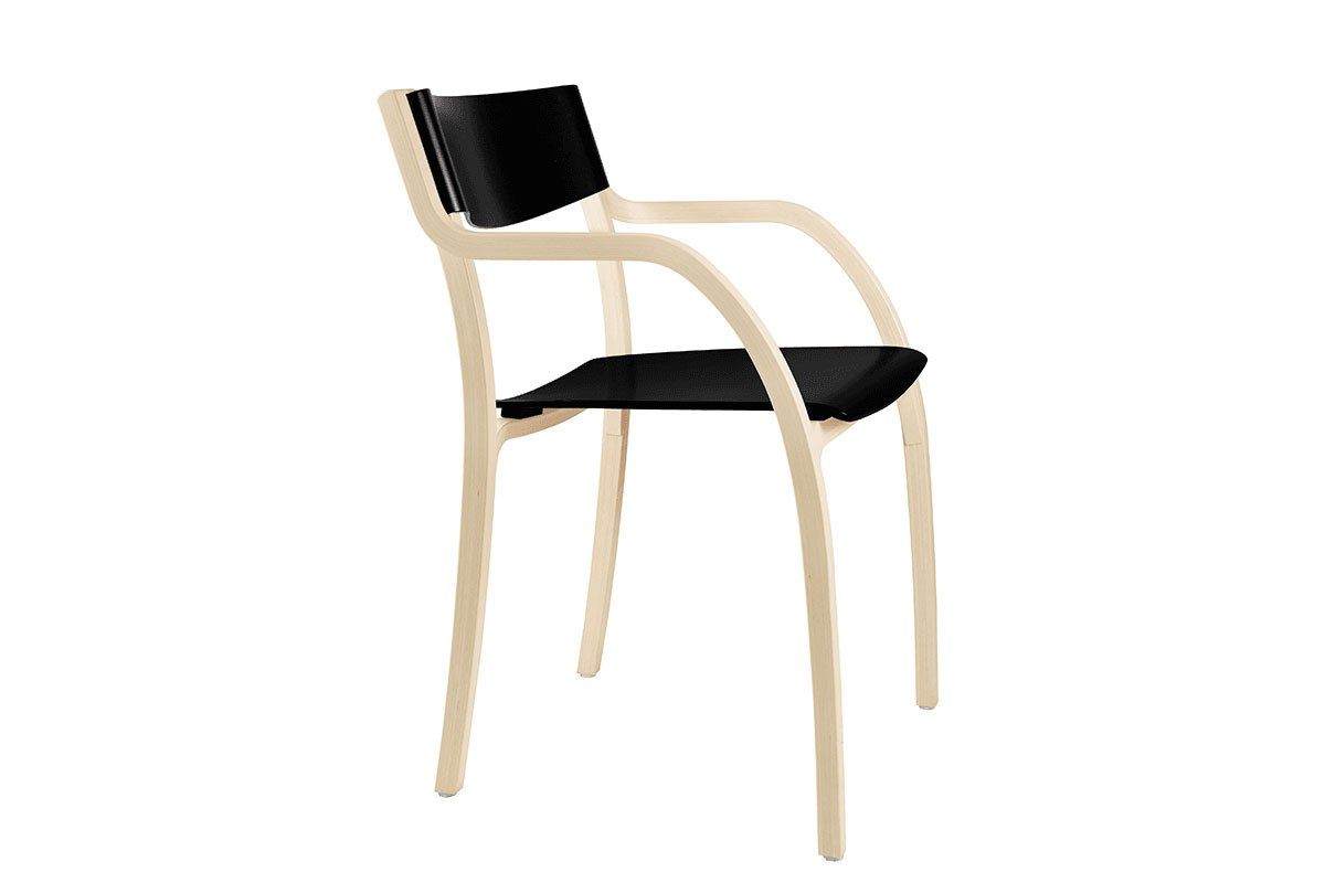 Scandinavian design chair from the birch, bleached