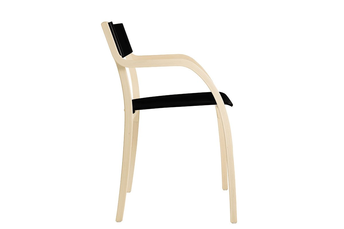 Durable wooden chair from the birch, bleached