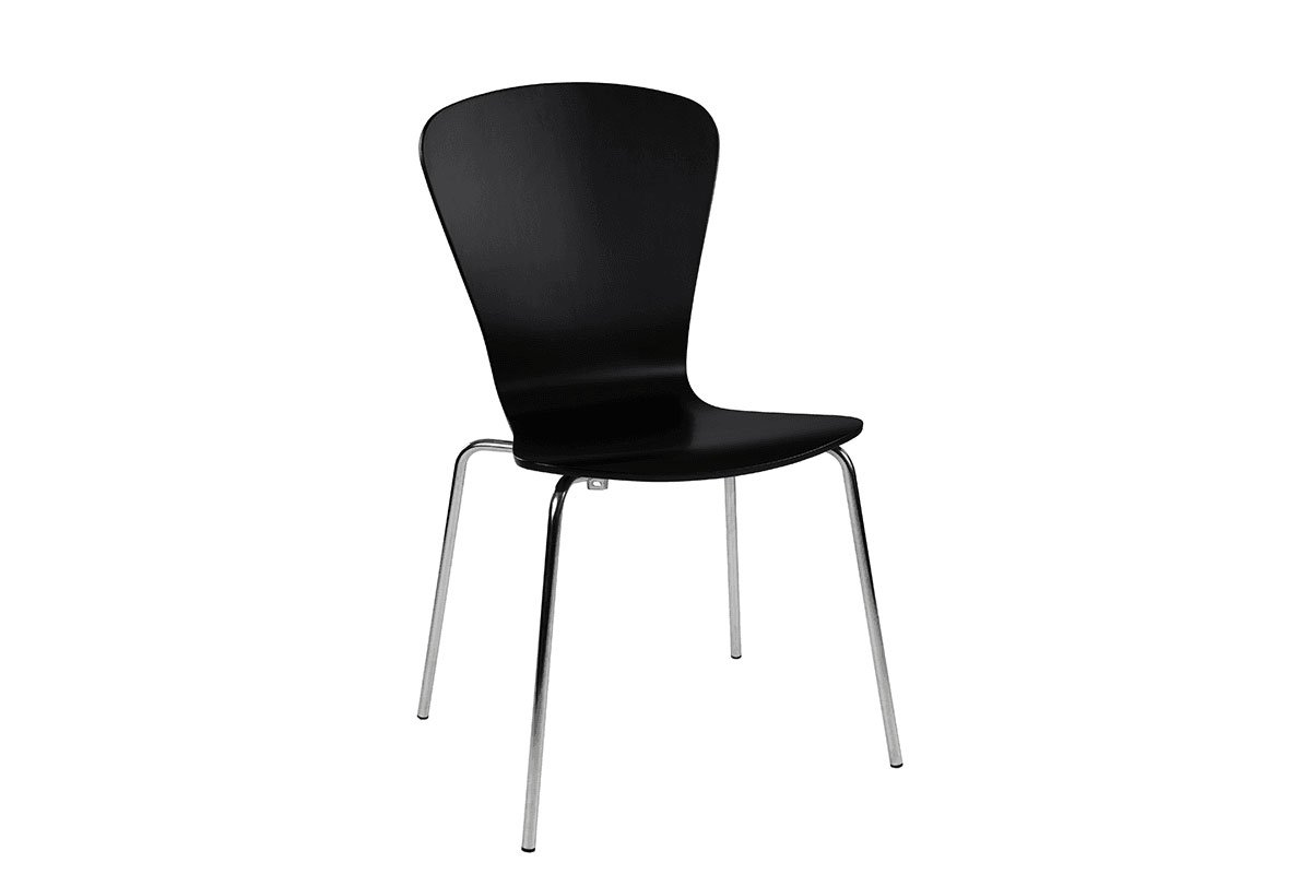 Scandinavian design chair from the birch, painted, black