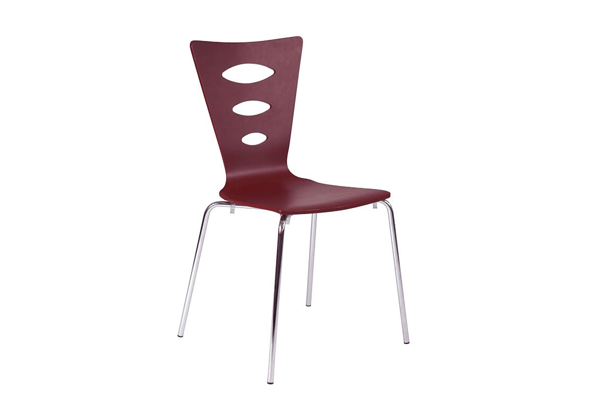 Scandinavian design chair, painted, bordeaux