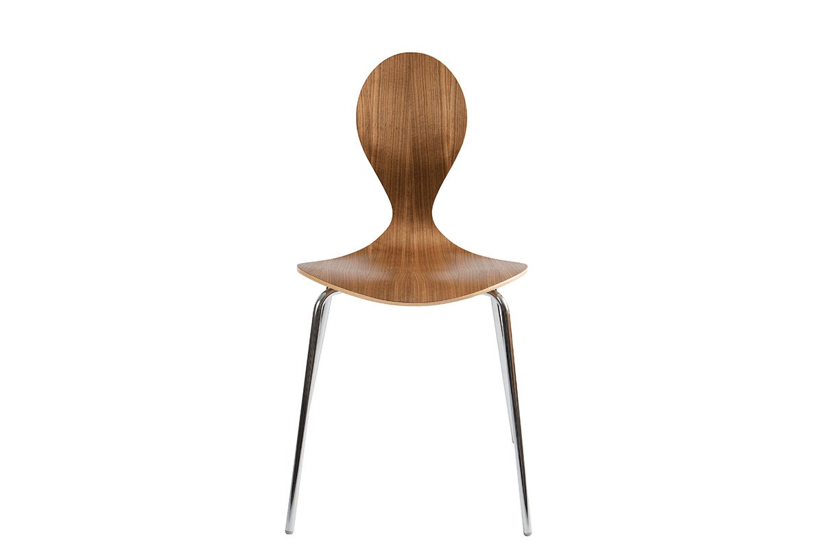Scandinavian design chair from the walnut, lacquered