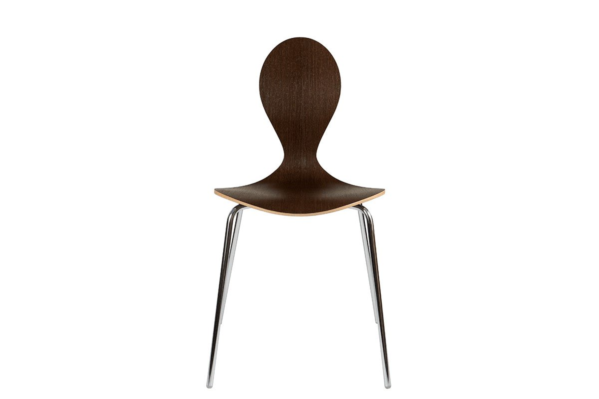Durable wooden chair, wenge, lacquered