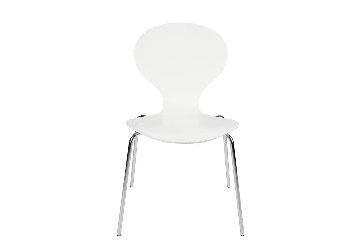 Scandinavian design chair, painted, white