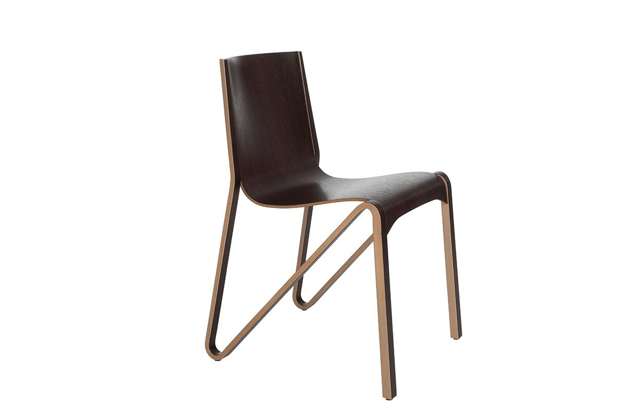 Scandinavian design chair from the oak, wenge, lacquered