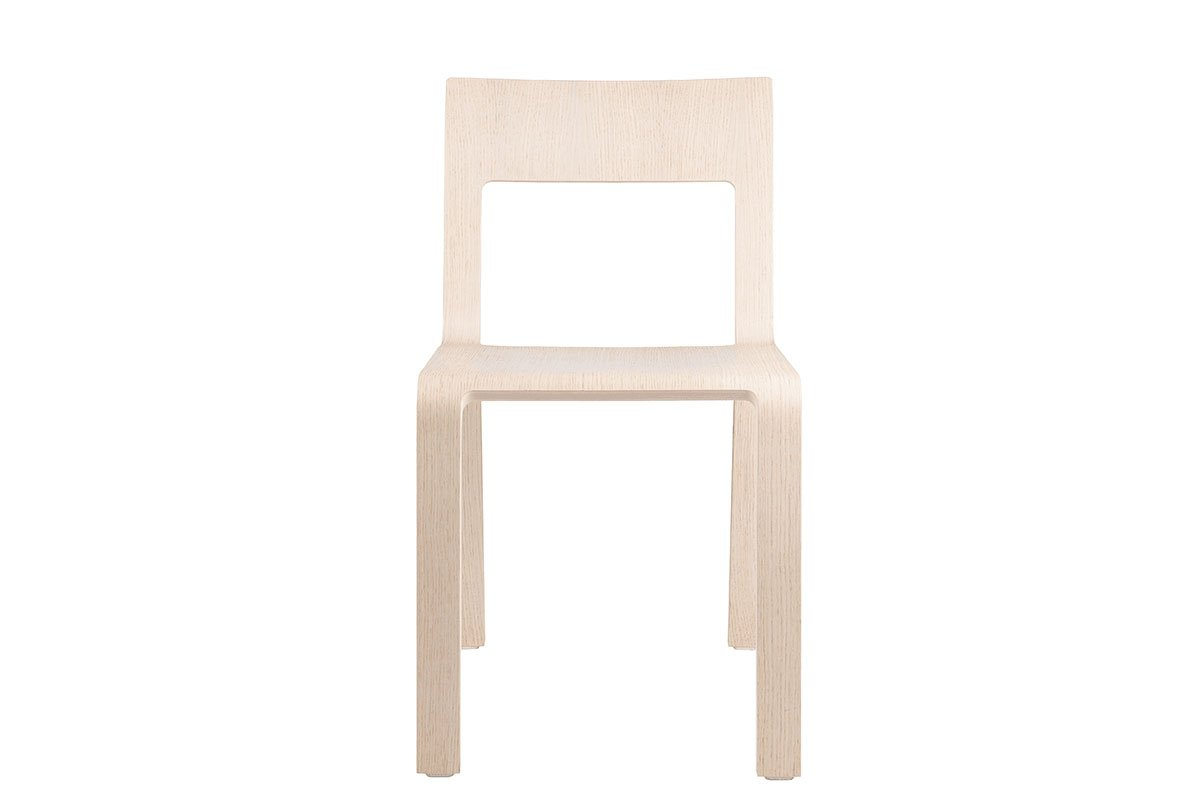 Contemporary plywood chair from the oak, bleached
