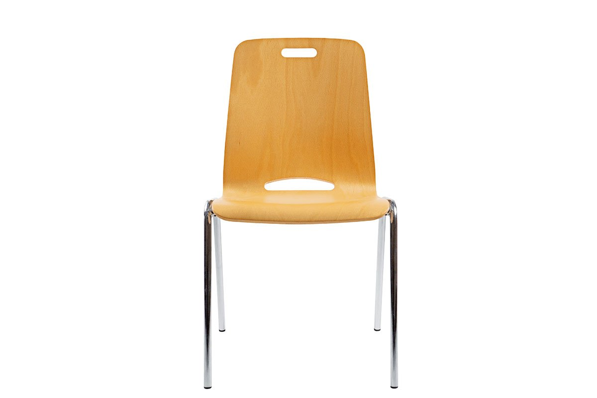 Scandinavian design chair from the beech, lacquered