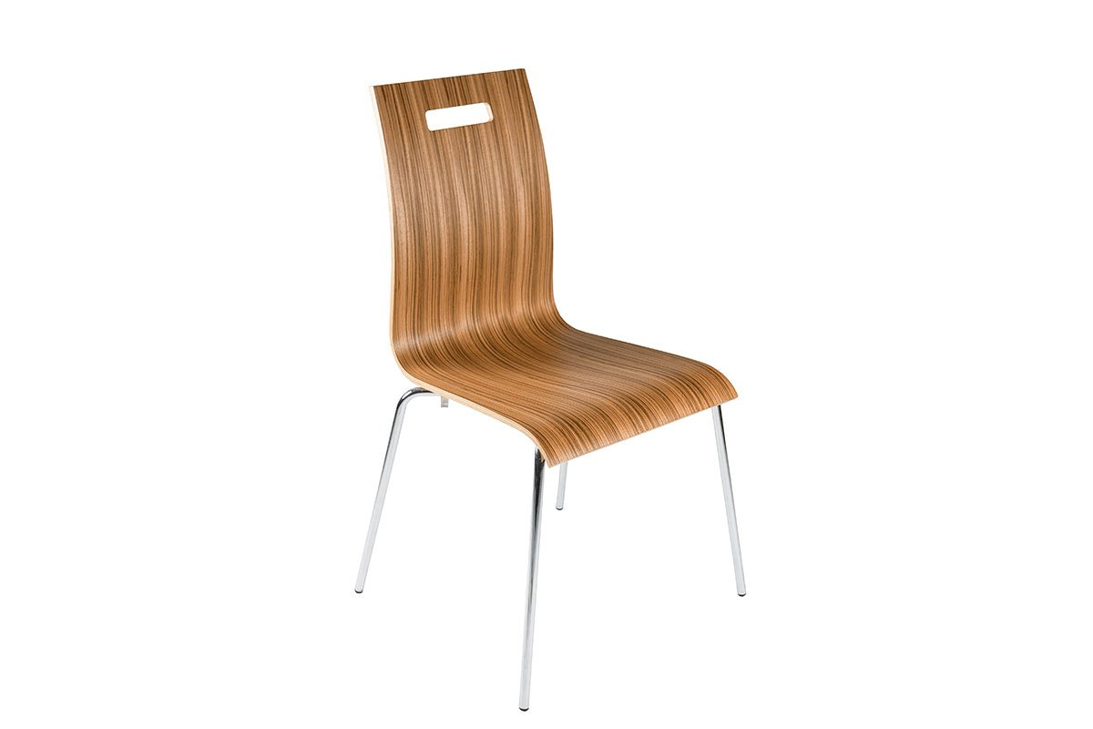 Durable wooden chair, zebrano, lacquered