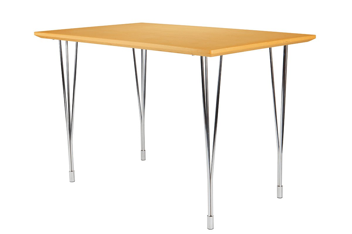 Scandinavian design table from the birch, stained beech