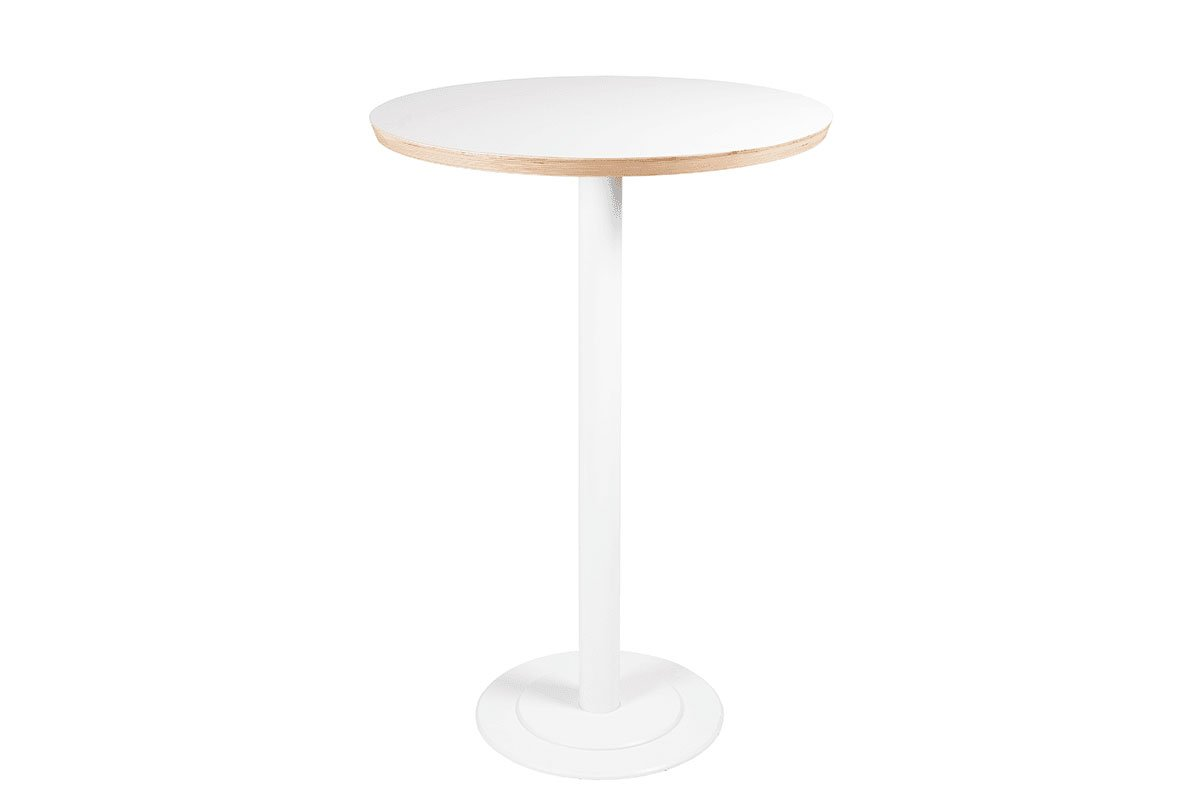 Scandinavian design table, laminate, white