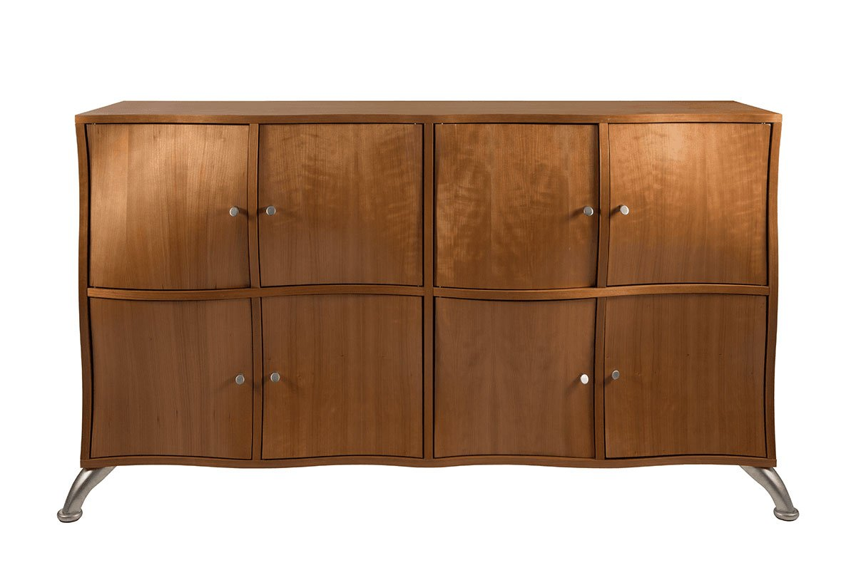 Scandinavian design cabinet from the cherry, lacquered