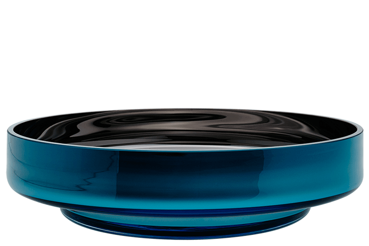 Decorative glass bowl, blue