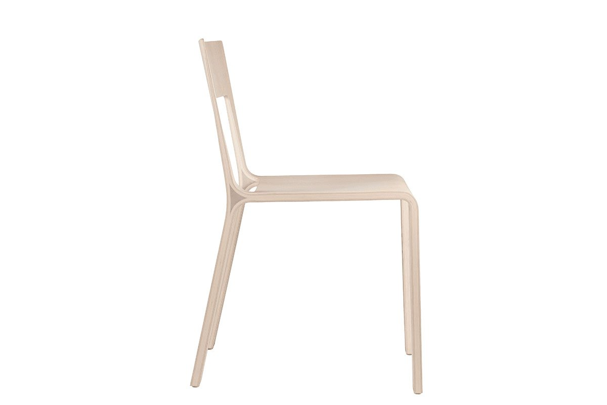 Durable wooden chair from the oak, bleached