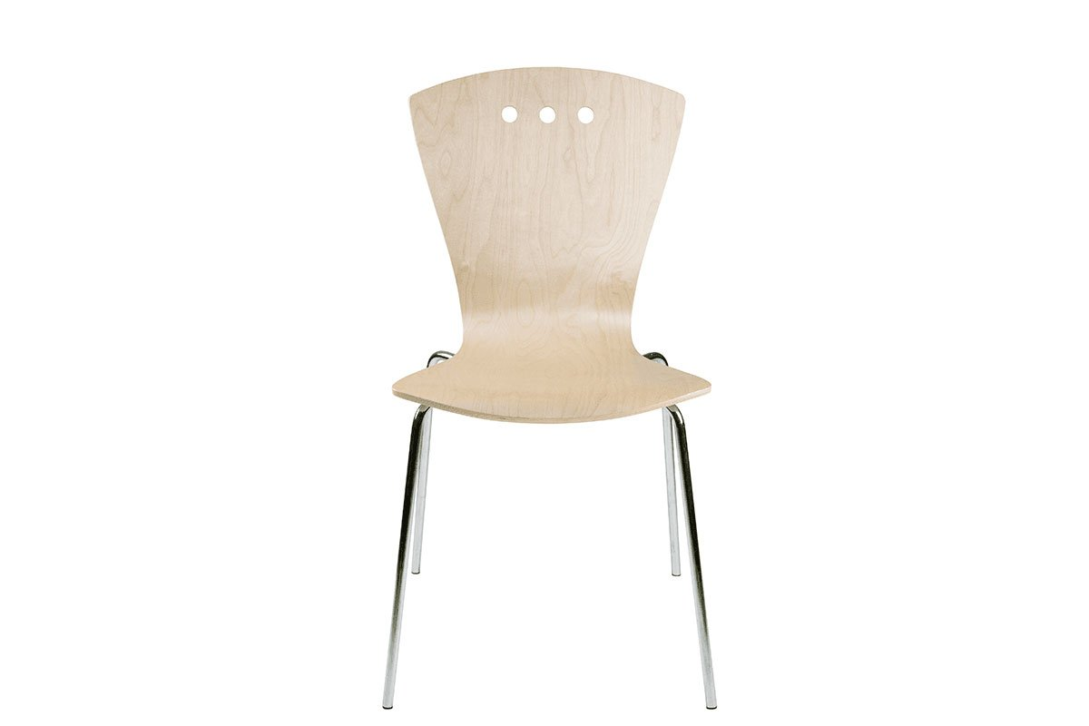 Scandinavian design chair from the birch, lacquered