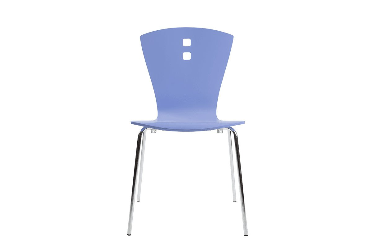 Scandinavian design chair, painted, blue