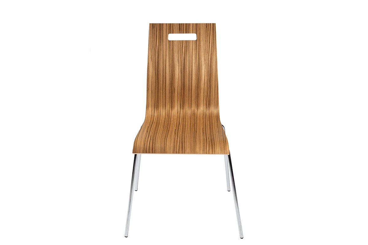 Scandinavian design chair, zebrano, lacquered