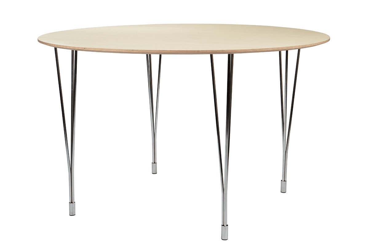 Scandinavian design table from the birch, bleached