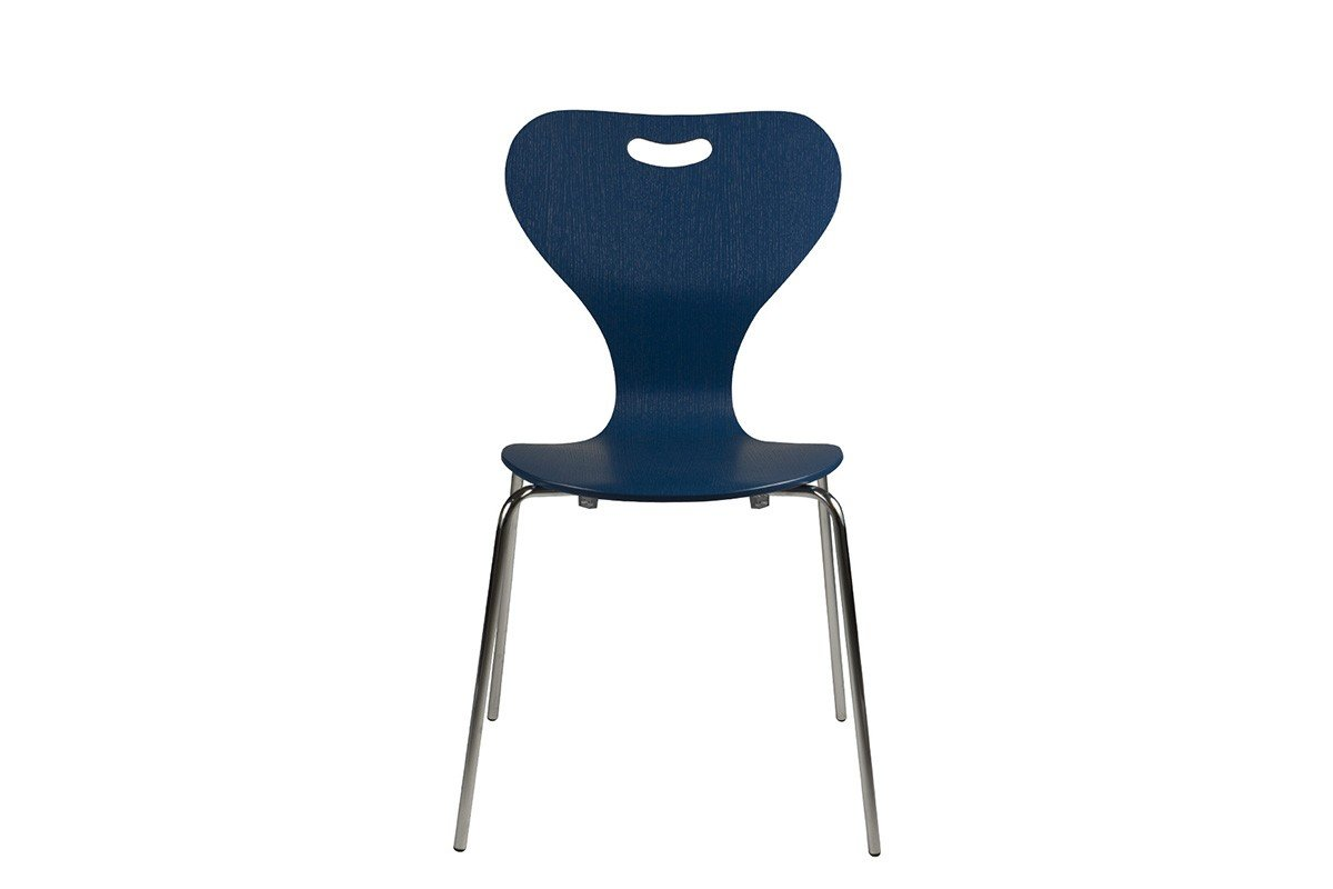 Scandinavian design chair from the oak, pigmented lacquer