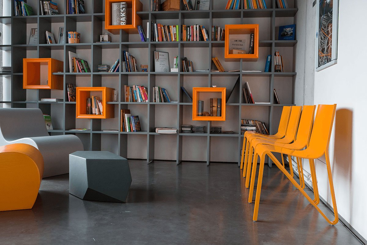 Contemporary plywood chair from the birch, pigmented lacquer