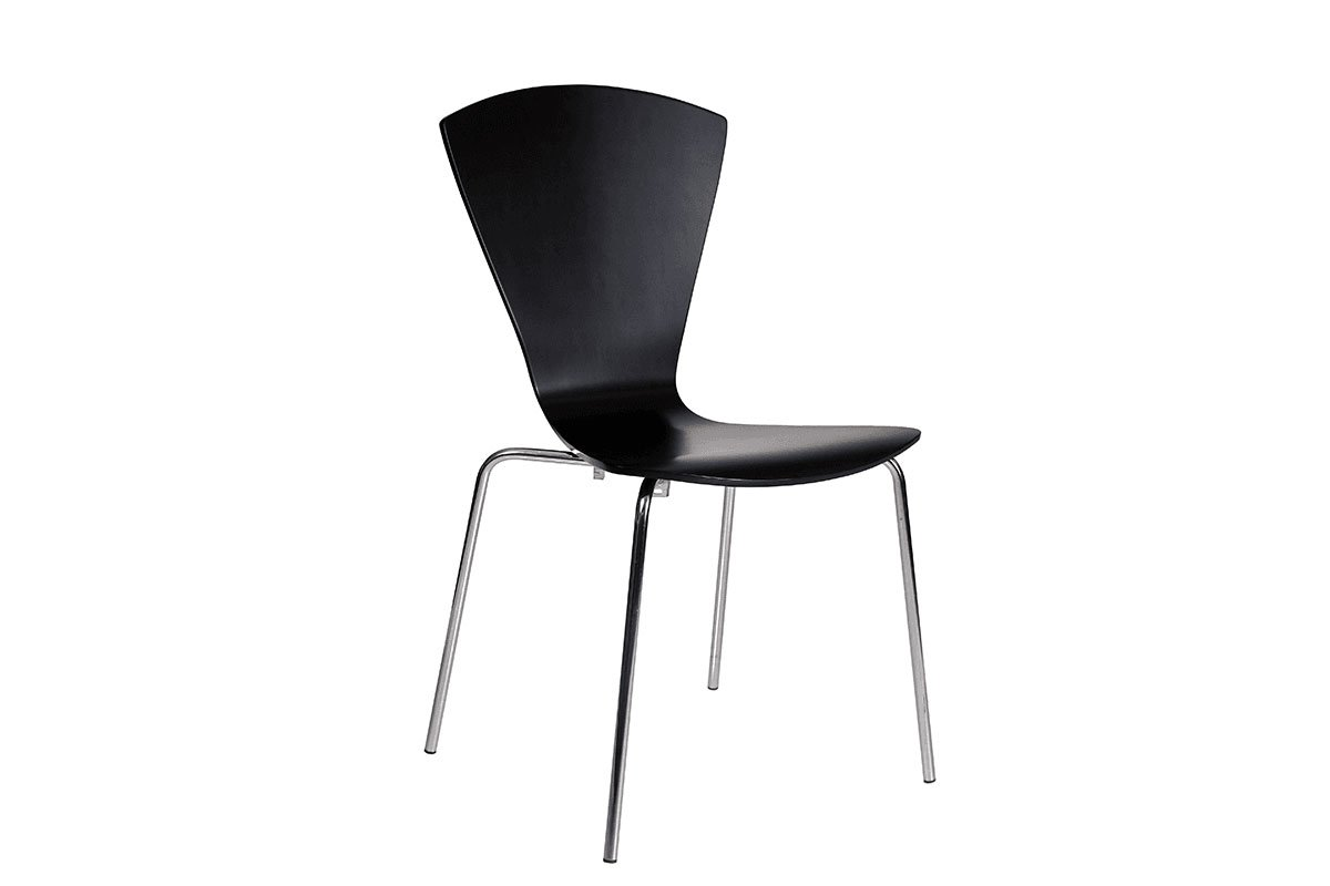 Scandinavian design chair, painted, black