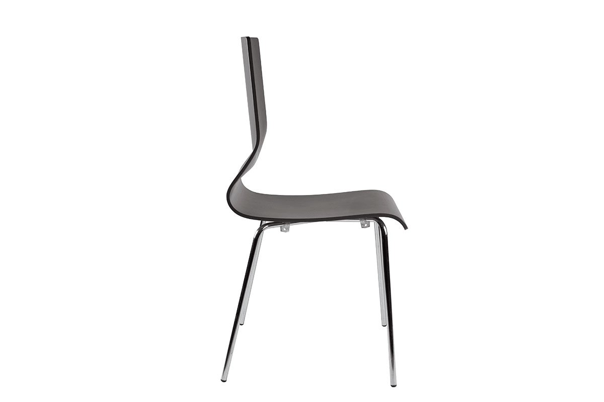 Durable wooden chair, painted, grey