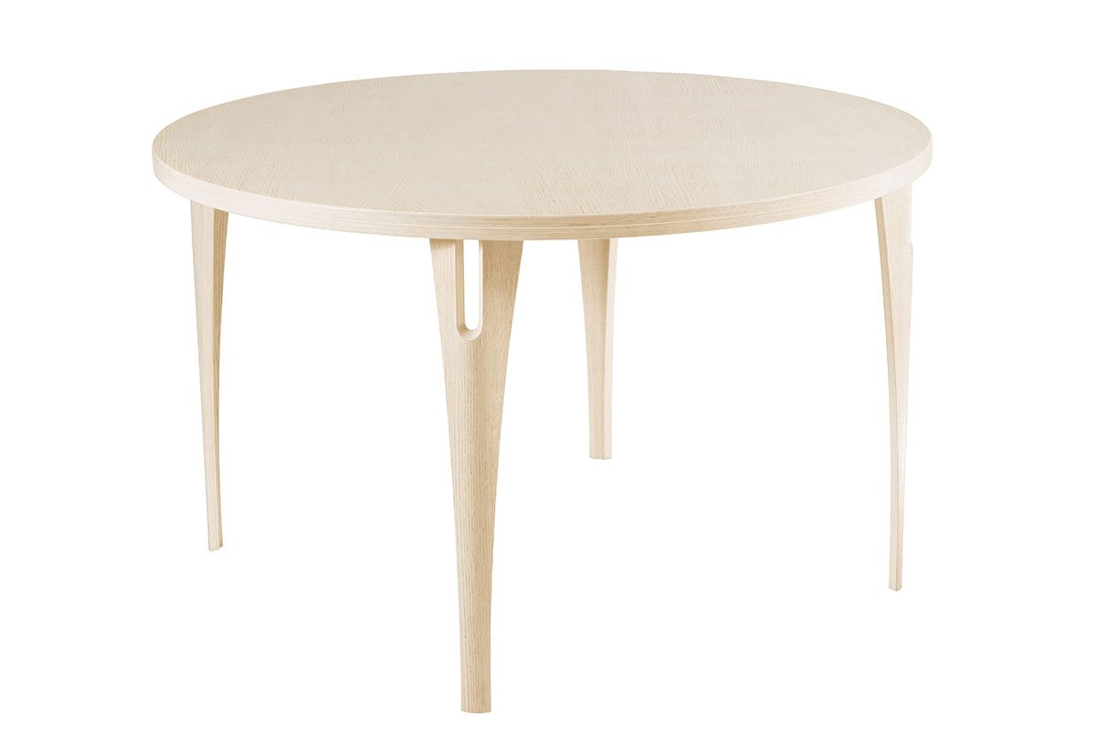 Scandinavian design table from the oak, bleached