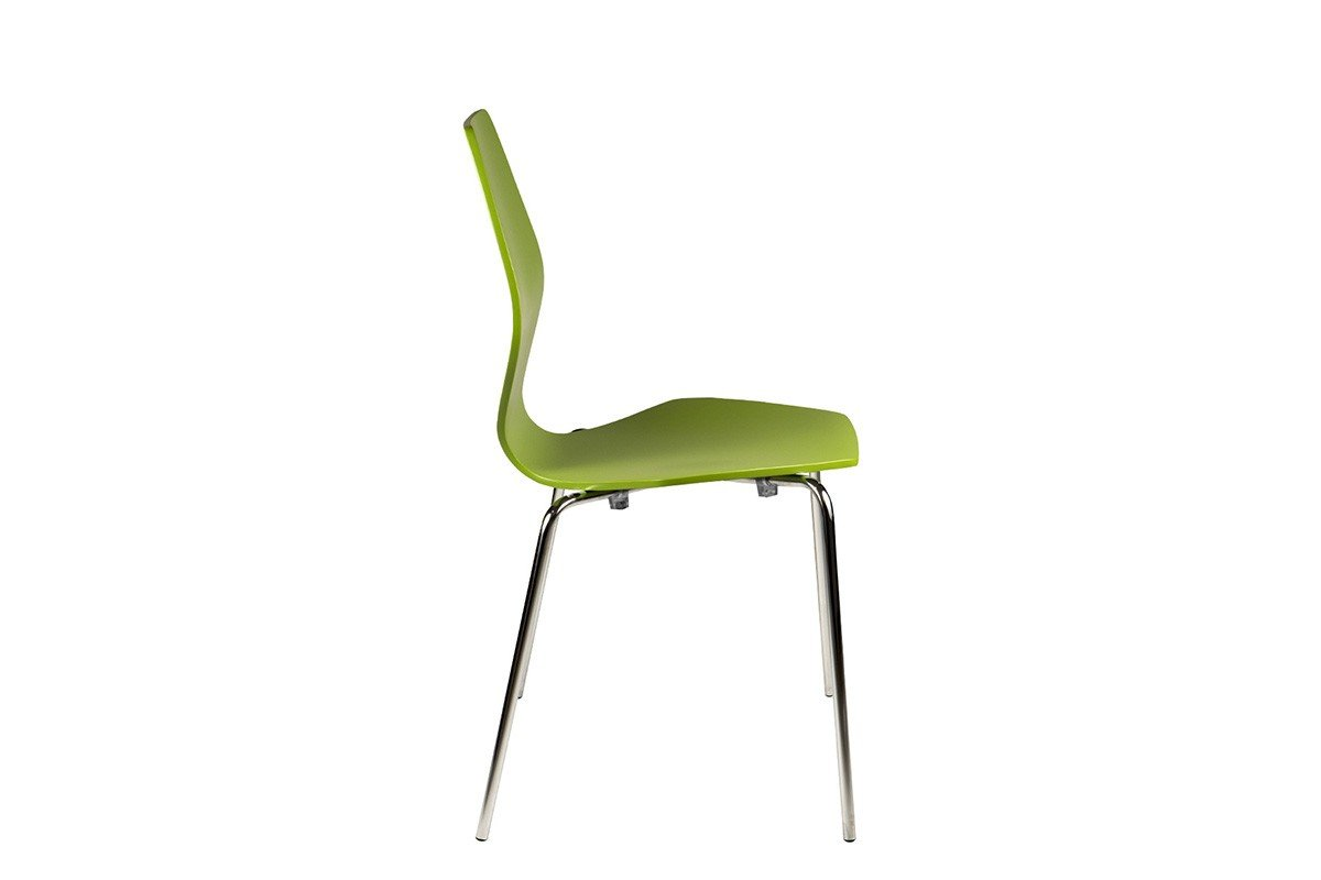Contemporary plywood chair, painted, green