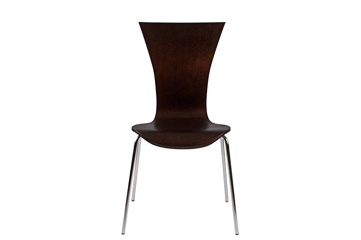 Scandinavian design chair from the birch, stained wenge