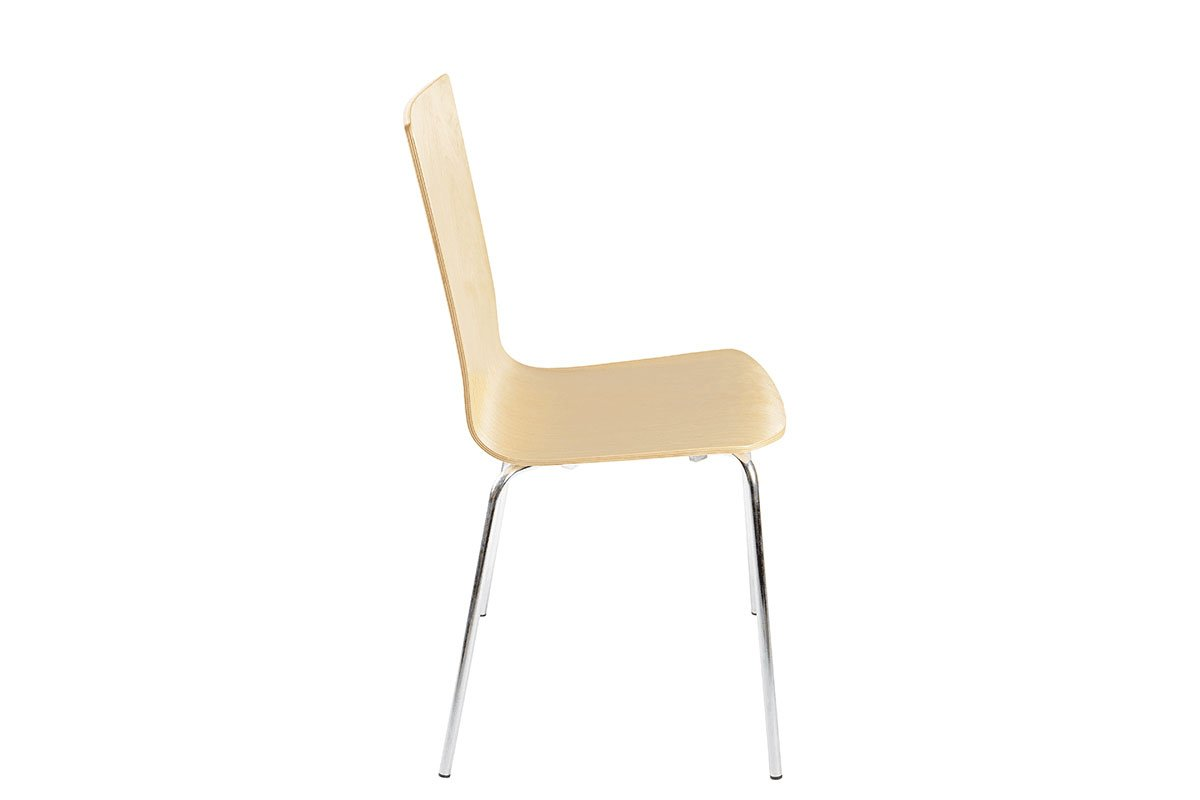 Contemporary plywood chair from the birch, lacquered