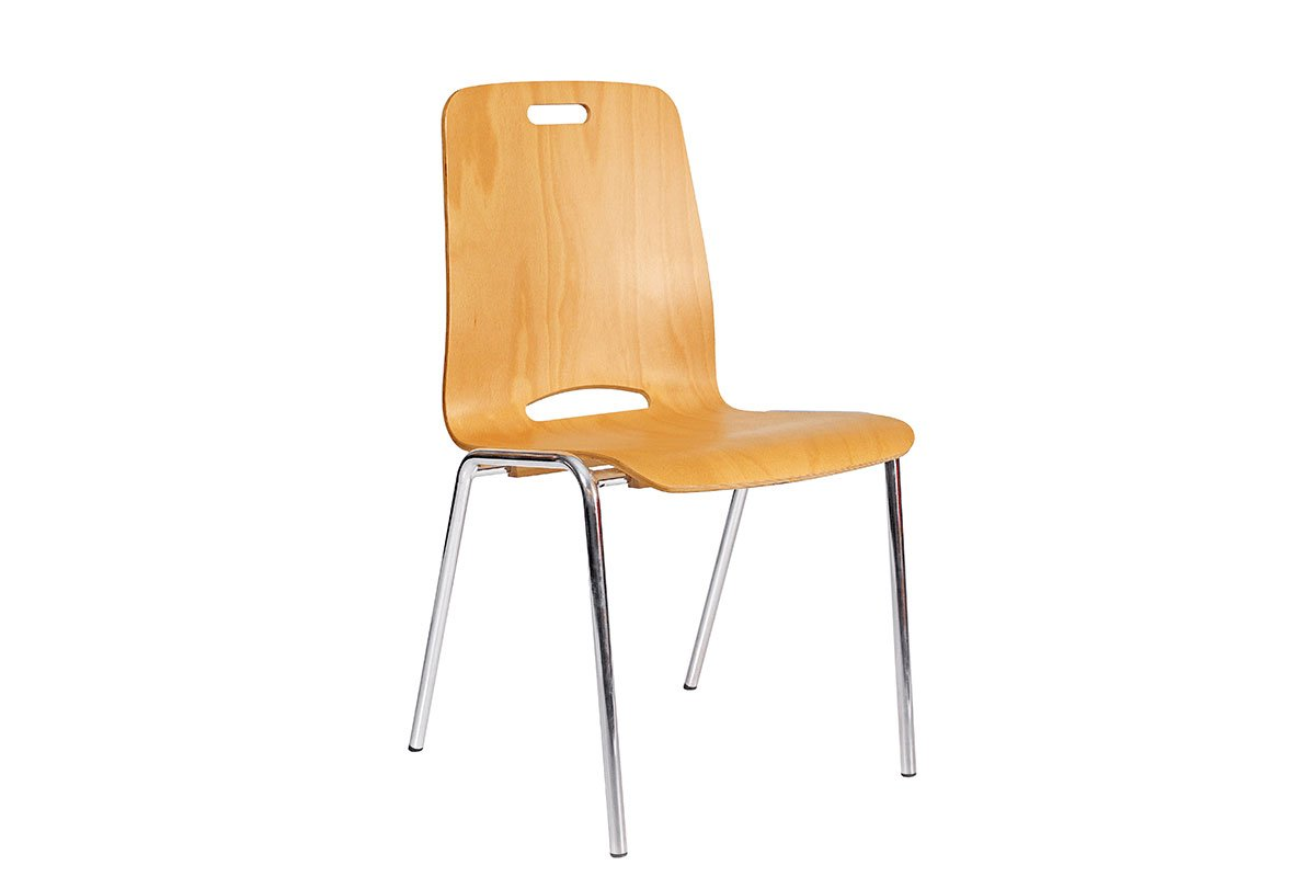 Durable wooden chair from the beech, lacquered