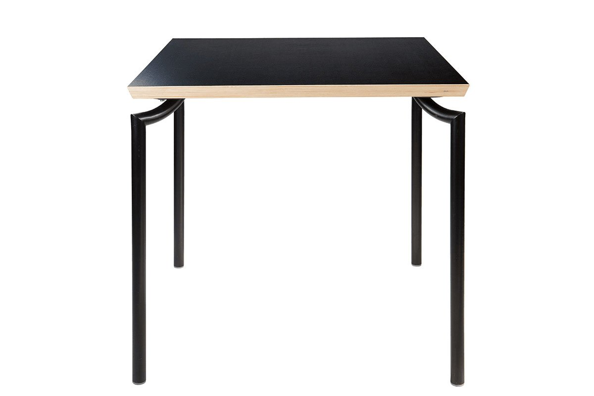 Scandinavian design table, laminate, black