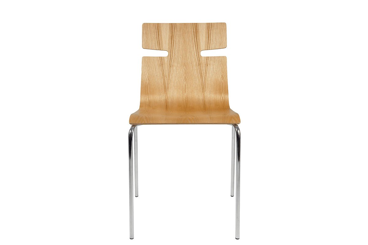Scandinavian design chair from the ash, lacquered