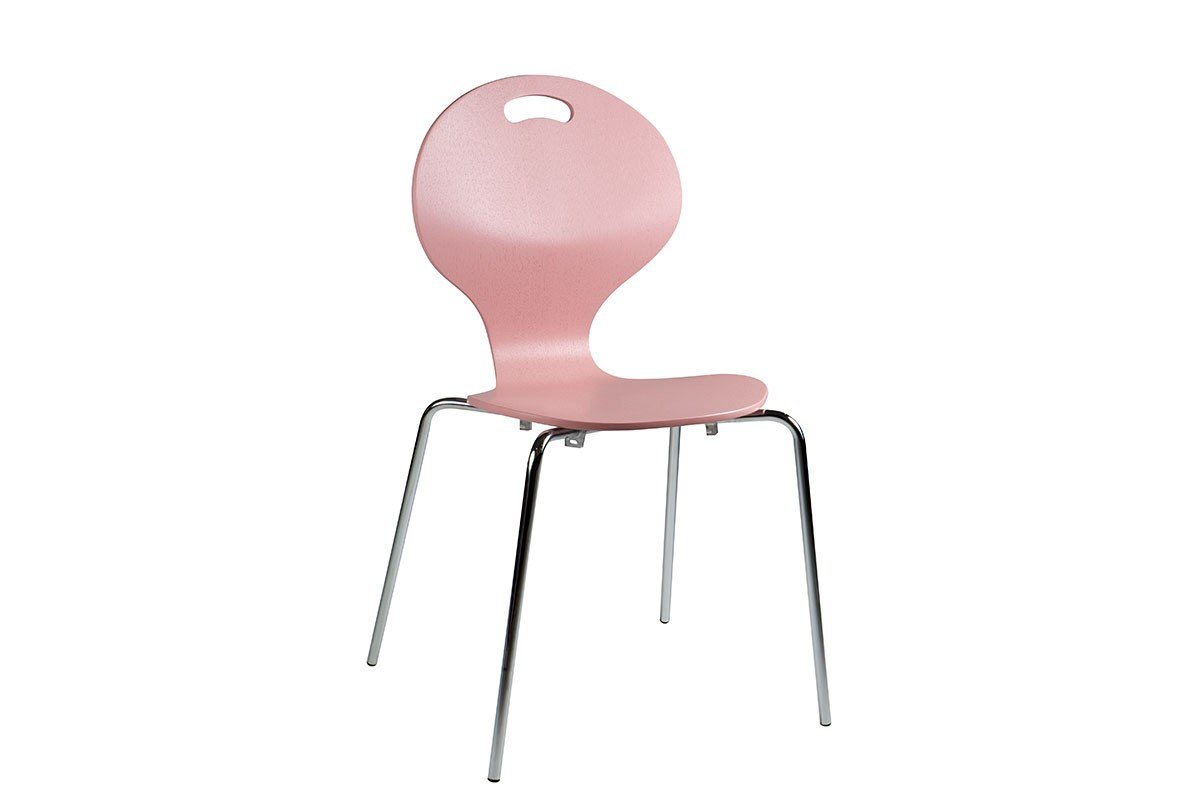 Scandinavian design chair, painted, pink