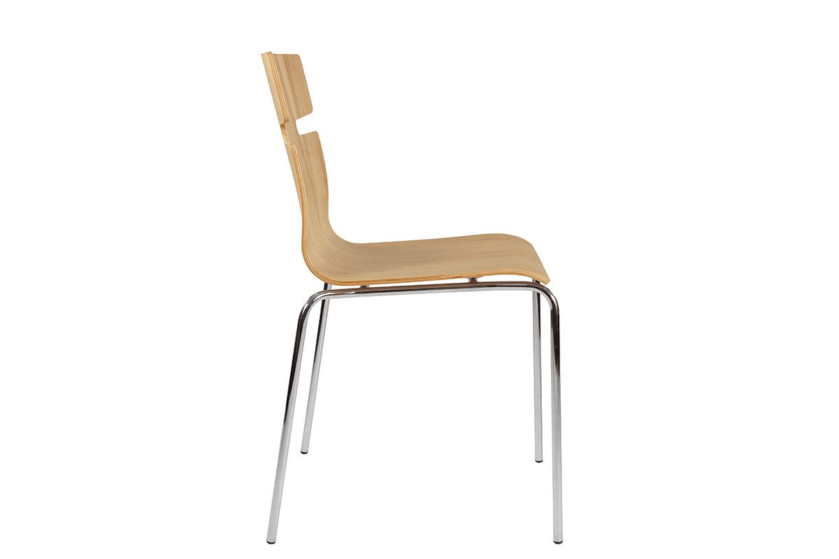 Contemporary plywood chair from the ash, lacquered