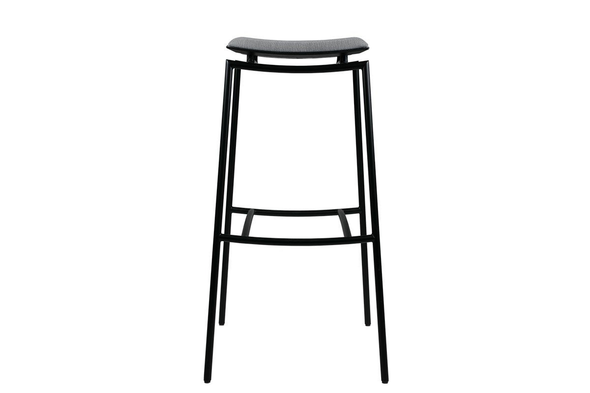Contemporary bar stool from the birch with metal frame and pads