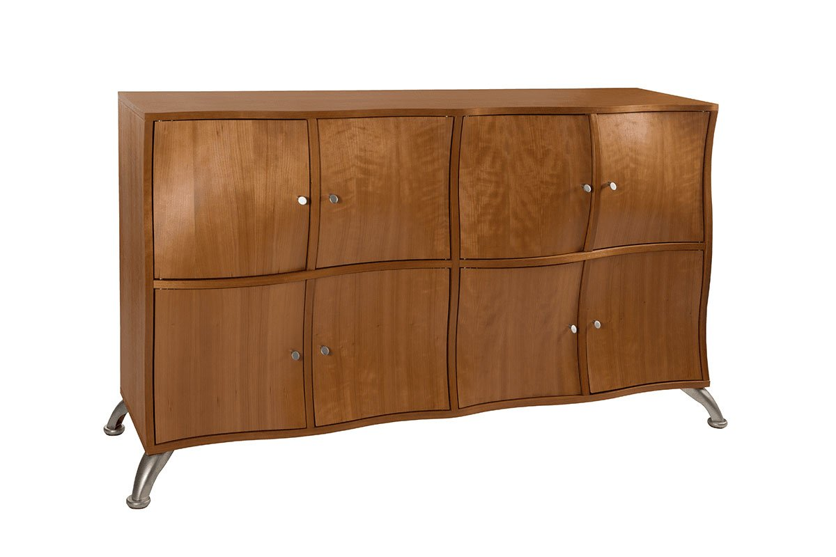 Durable wooden cabinet from the cherry, lacquered