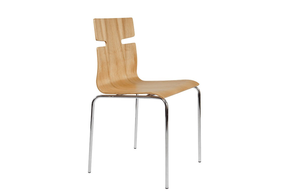 Durable wooden chair from the ash, lacquered
