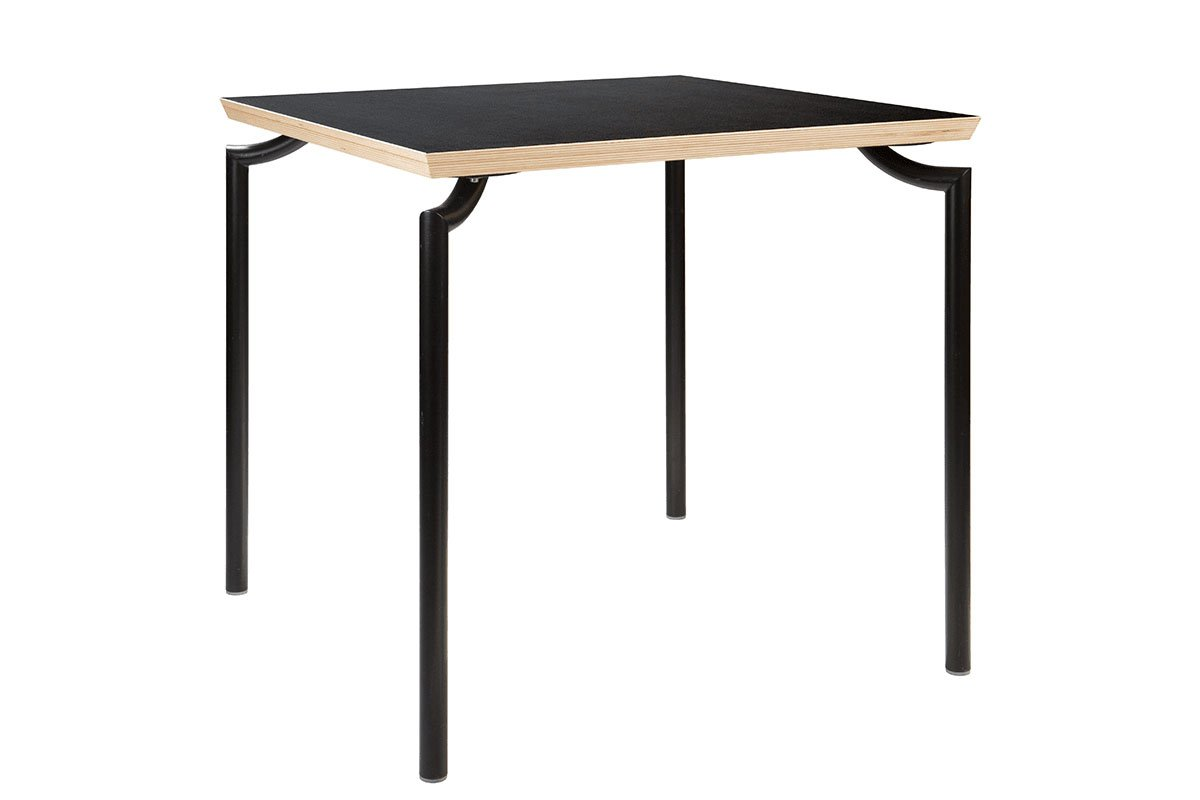 Durable wooden table, laminate, black